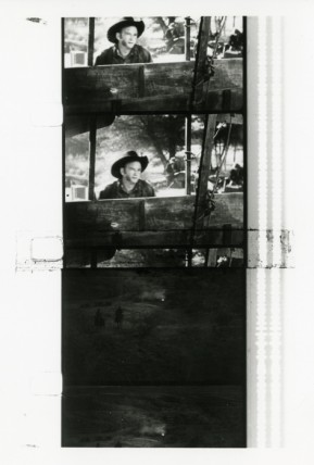 Raphael Montanez Ortiz, 'Cowboy' and 'Indian' Film, 1957–58, black-and-white film with sound, 2min, still frames. Courtesy of Archives of Raphael Montanez Ortiz