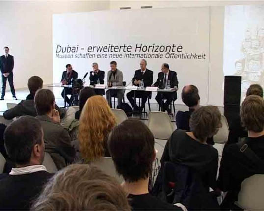 Christian von Borries, Alice Creischer, Andreas Siekmann, 'Dubai — Expanded Horizons: Museums Create a New International Public Sphere', performance. Courtesy the artists