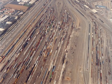Union Pacific Classification and Repair Yard in West Colton, California