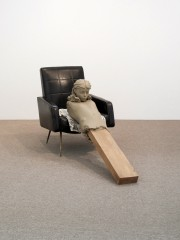 Mark Manders, Ramble Room Chair, 2010. Installation view, Hammer Museum, Los Angeles, 2010