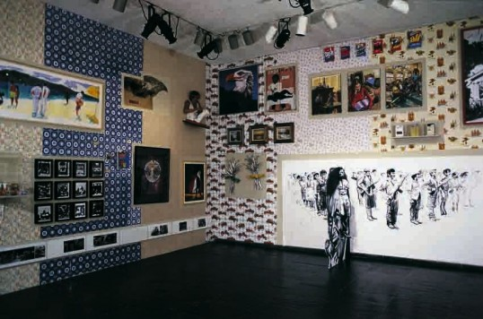 Group Material, Americana, 1985. Whitney Biennial, Whitney Museum of American Art, New York. Photograph: Geoffrey Clements. Courtesy Whitney Museum of American Art