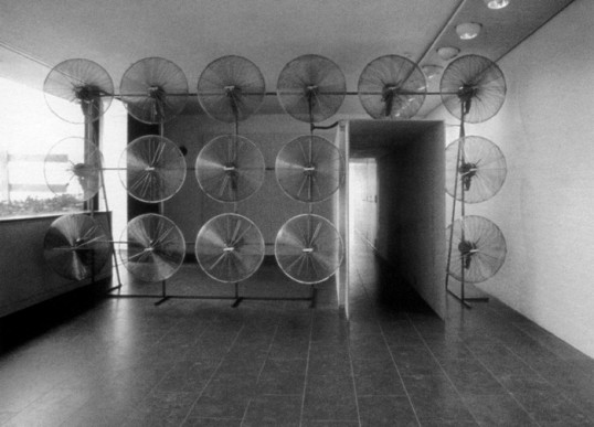 Olafur Eliasson, Your Windless Arrangement, Installation View, Louisiana Museum of Art, Humblebaek, 1997. Courtesy the artist.
