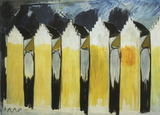 René Daniëls, Gent,  oil on canvas, 180cm x 240cm,1980-1981. Courtesy Galerie Paul Andriesse, Amsterdam