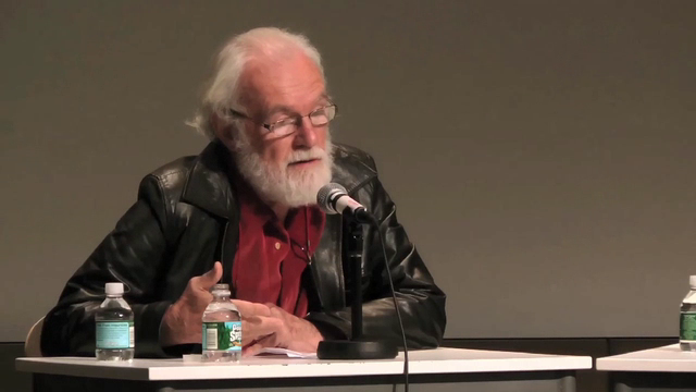 Forgotten Spaces: Discussion platform with Benjamin Buchloh, David Harvey and Allan Sekula, at a screening of 'The Forgotten Space' at The Cooper Union, May 2011. Filmed by Jacqueline Hoang Nguyen, Roberto Meza and Park McArthur, 21min.