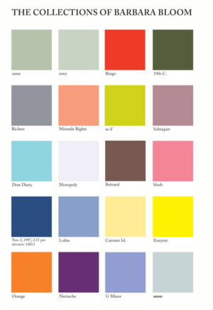 Colour Catalog : Afterall • Online • The Collections of Barbara Bloom at the ...