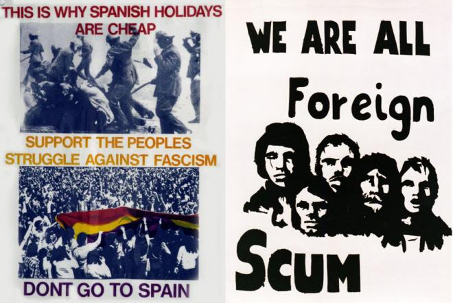 Left: Poster by Poster-Film Collective (1970s). Right: Poster by Poster Workshop (c.1968–70)